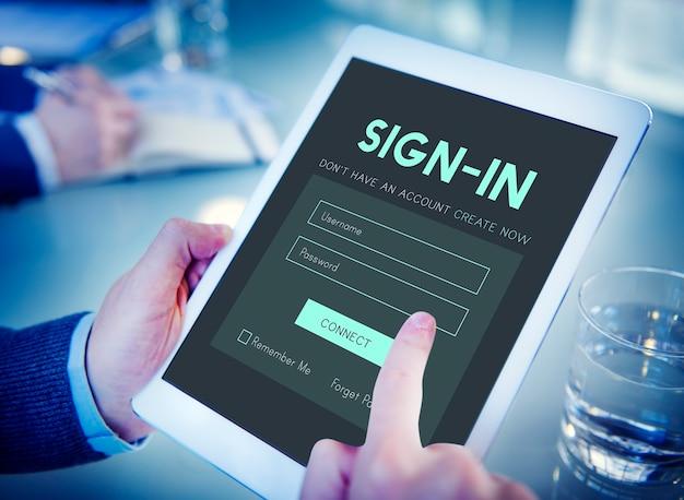 Inicio de sesión de miembros membresía nombre de usuario contraseña concepto