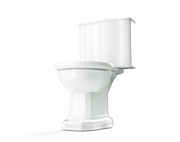 Inodoro 3d render wc sobre fondo blanco.