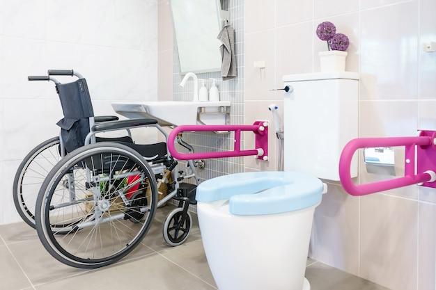 Inodoro para personas mayores y discapacitados, mango de dos lados para apoyar el cuerpo y deslizarse pro