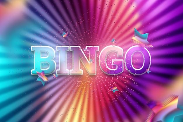 Inscripción bingo en una oscuridad brillante