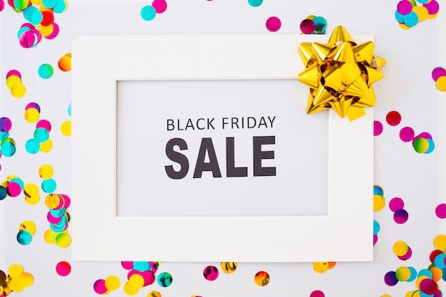 Inscripción de venta viernes negro en marco