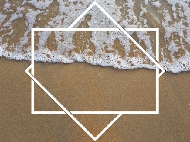 Insignia banner etiqueta espacio copia en blanco