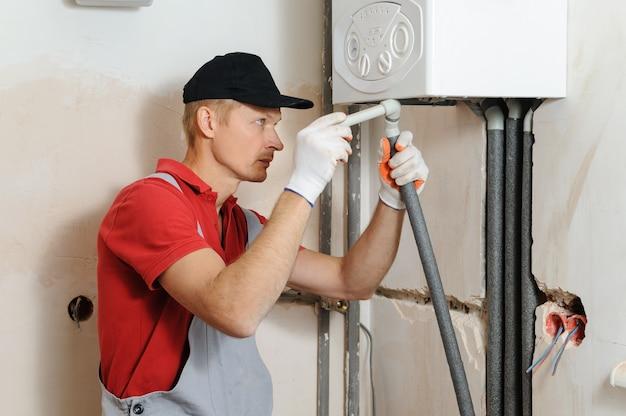 Instalación de calefacción del hogar.
