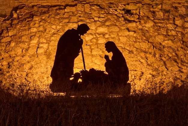Instalación navideña sobre el tema del nacimiento de jesucristo.