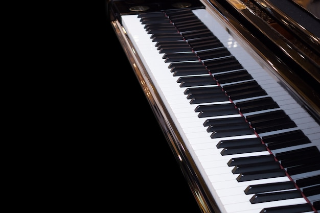 Instrumento musical de fondo de teclado de piano de cola