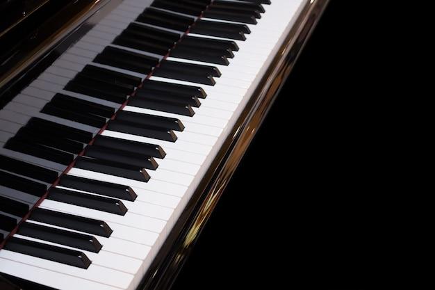 Instrumento musical de fondo de teclado de piano