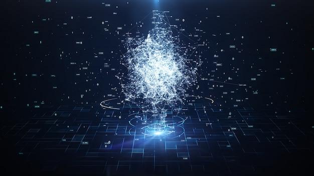 Inteligencia artificial brain animation