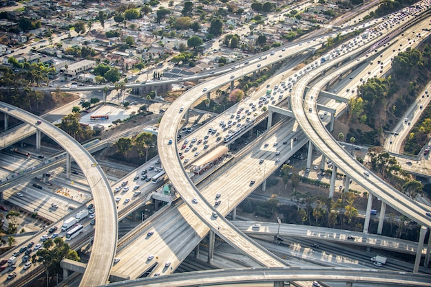 Intercambio, bucles y carreteras