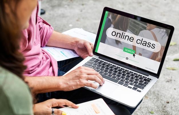 Interfaz de búsqueda en línea a distancia