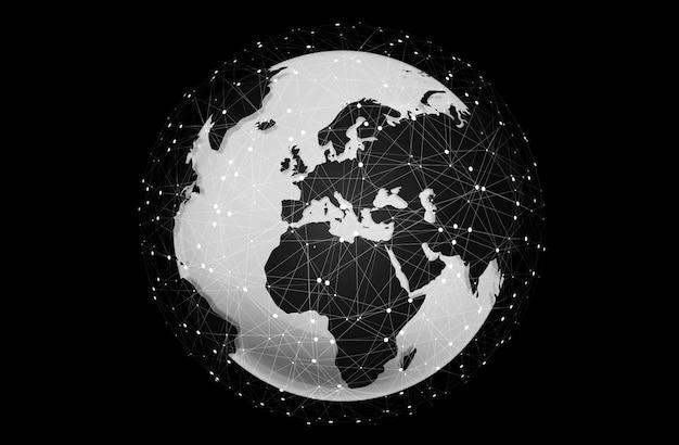 Interfaz digital táctil del mundo.