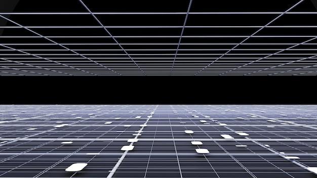 Interfaz fantástica textura de fondo ilustración 3d renderizado