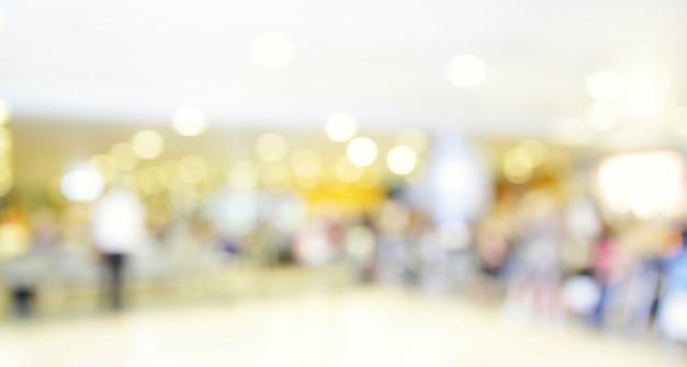 Interior del aeropuerto fuera de foco - fondo borroso desenfocado
