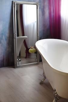 Interior de un baño vintage