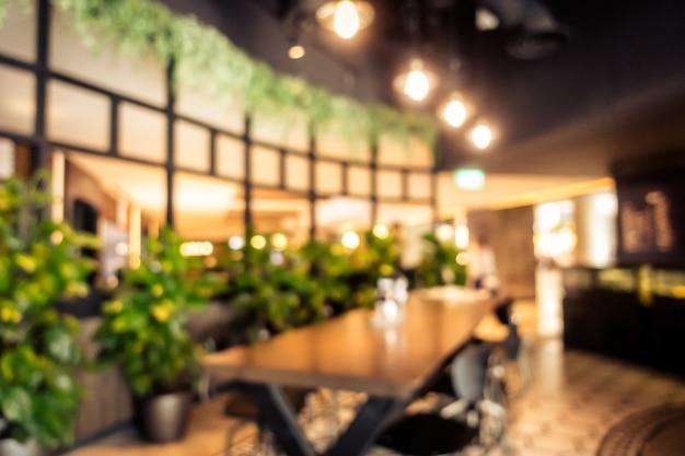 Interior borroso abstracto cafetería café interior