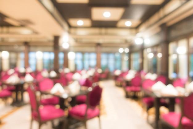 Interior borroso abstracto del restaurante para el fondo