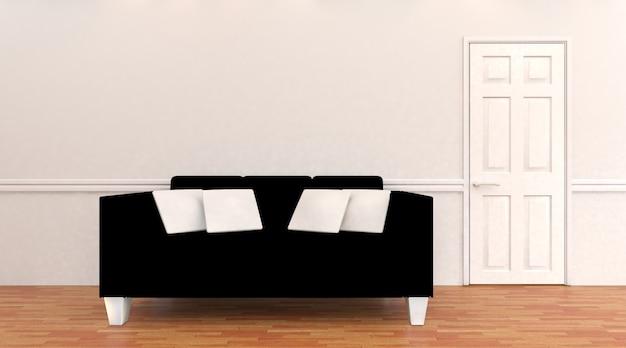 Interior de casa con sofá moderno