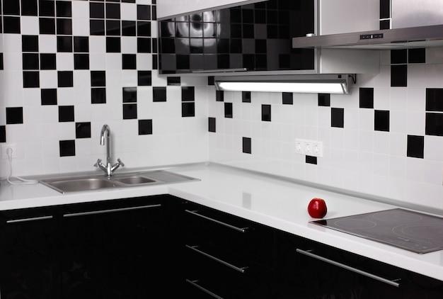 Interior de cocina moderna