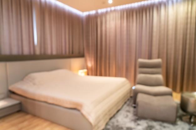 Interior de dormitorio borroso abstracto para el fondo