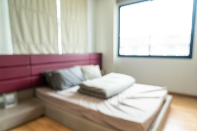 Interior de dormitorio borroso abstracto para