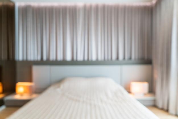 Interior de dormitorio borroso abstracto