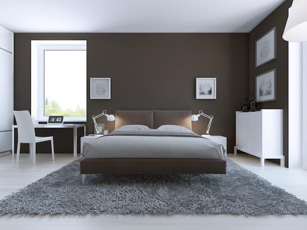Interior de dormitorio elegante