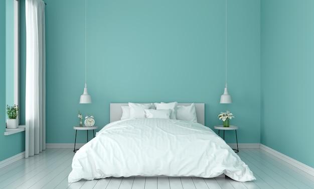 Interior de dormitorio para maqueta