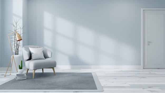 Interior escandinavo del concepto de sala de estar.