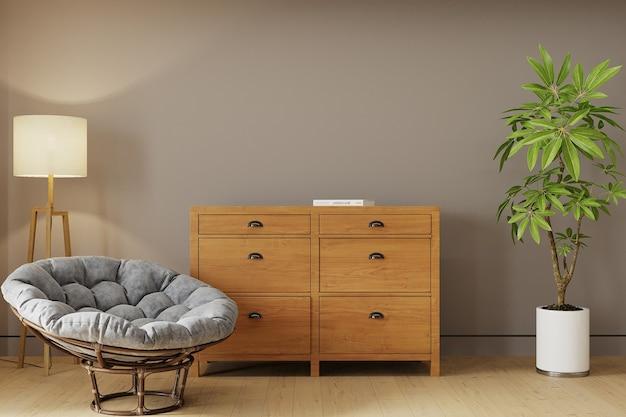 Interior de una habitación con sillón