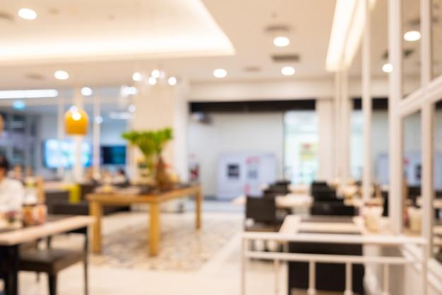 Interior hermoso borroso abstracto del restaurante para el café de la falta de definición del fondo