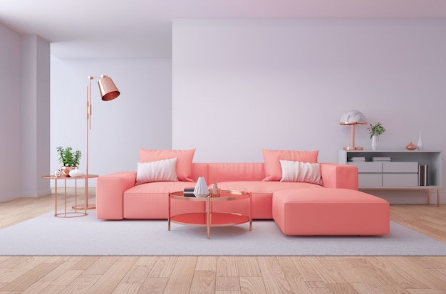 Interior de lujo de sala de estar