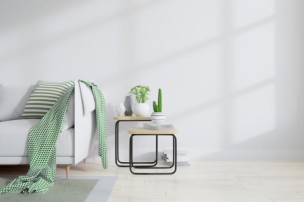 Interior minimalista de diseño de sala de estar.