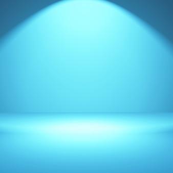 Interior minimalista de la habitación iluminada