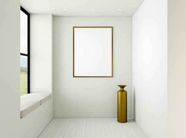 Interior minimalista con marco elegante.