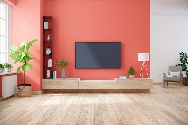 Interior minimalista de sala de estar