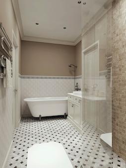 Interior moderno del baño.