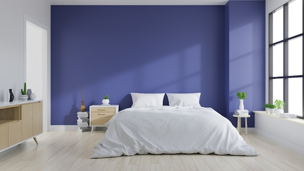 Interior moderno del dormitorio