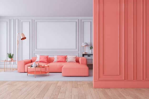 Interior moderno de lujo de sala de estar