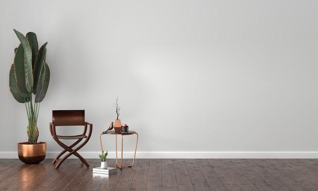 Interior moderno y lujoso de la sala de estar