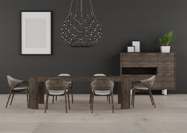 Interior moderno oscuro