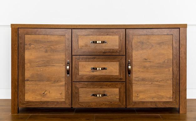 Interior de mueble de madera