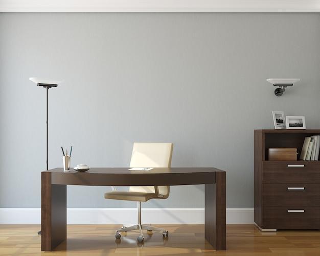 Interior de la oficina moderna render 3d.