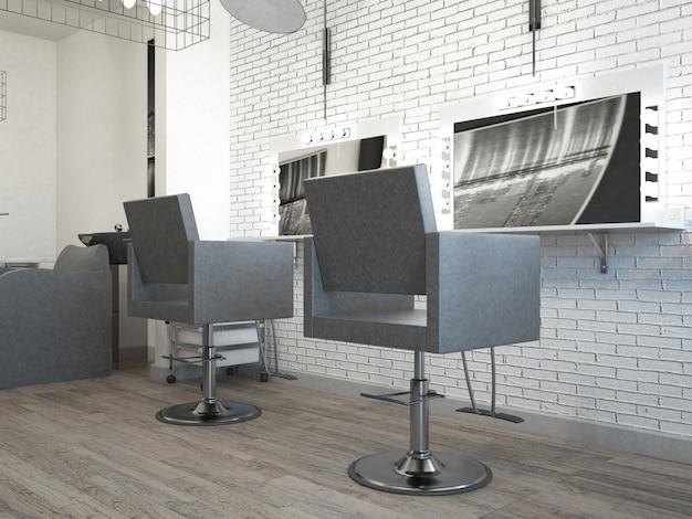 Interior de peluquería de salón de estilo de pelo