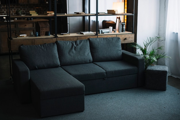 Interior de una sala de estar moderna
