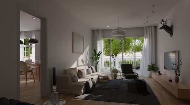 Interior de la sala de estar moderna