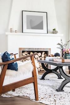 Interior de la sala de estar simple
