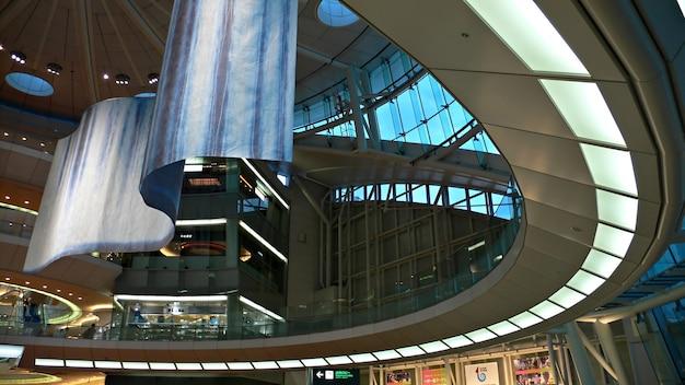 Interior de la sala futurista