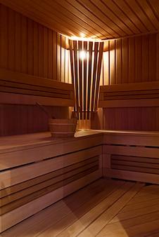 Interior de la sauna