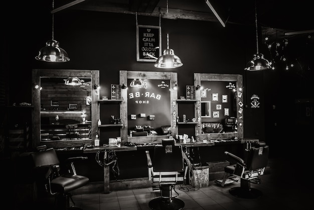 Interior vintage de la tienda de bar ber