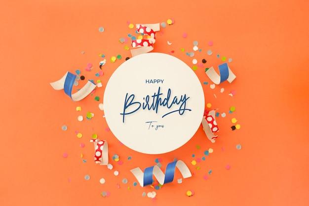 Invitación de fondo de cumpleaños