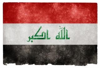 Iraq bandera del grunge